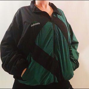 Vintage Adidas colour block windbreaker jacket